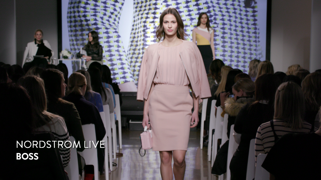 Nordstrom Live - model on runway