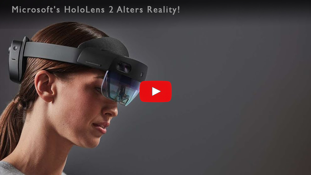 Model with Microsoft's HoloLens 2 - Alters Reality