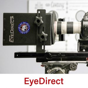 EyeDirect picture with AMC logo on device